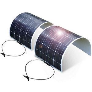 2PC DOKIO Pannello Solare Fotovoltaico Monocristallino 100W 12V Flessibile Portatile
