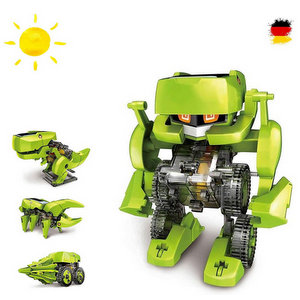 4 in 1 dinosauro konstruktions Bauset con pannello solare, Robot