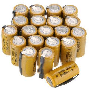 Anmas Box, 12 batterie ricaricabili NI CD 23 AA da 600 mAh