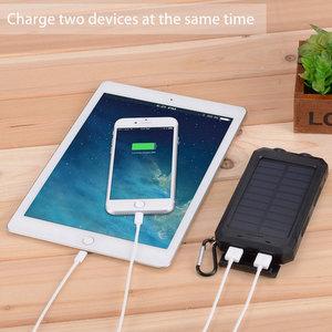 Caricabatterie Solare 10000mAh Portatile Power Bank