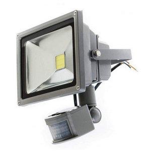 Faro a led 20 W luce bianca fredda con sensore di movimento crepuscolare
