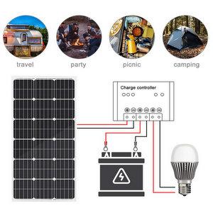 eco-worthy pannello solare policristallino, 100 Watt, 12 Volt, per la carica della batteria