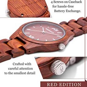 OLIVER REDMONT Orologio in legno di sandalo