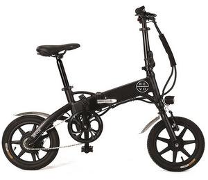 REVOE Urban Bicicletta Elettrica Pieghevole Misto Adulto Nero
