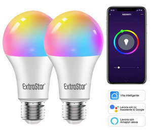 Extrastar Lampadine Alexa Led E27 WiFi Smart